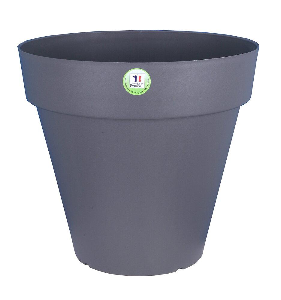Pot de fleurs Soleilla diamètre 60cm gris
