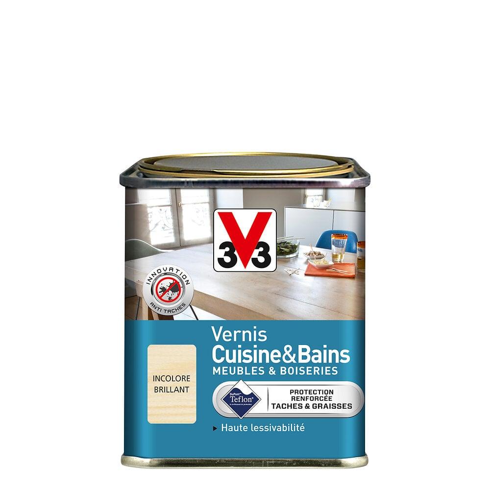 Vernis Cuisine et Bains Brillant Incolore Pot 0.25l