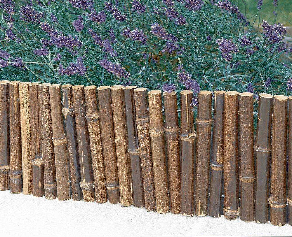 Bordure flexible bambou Noir 0.35x1m