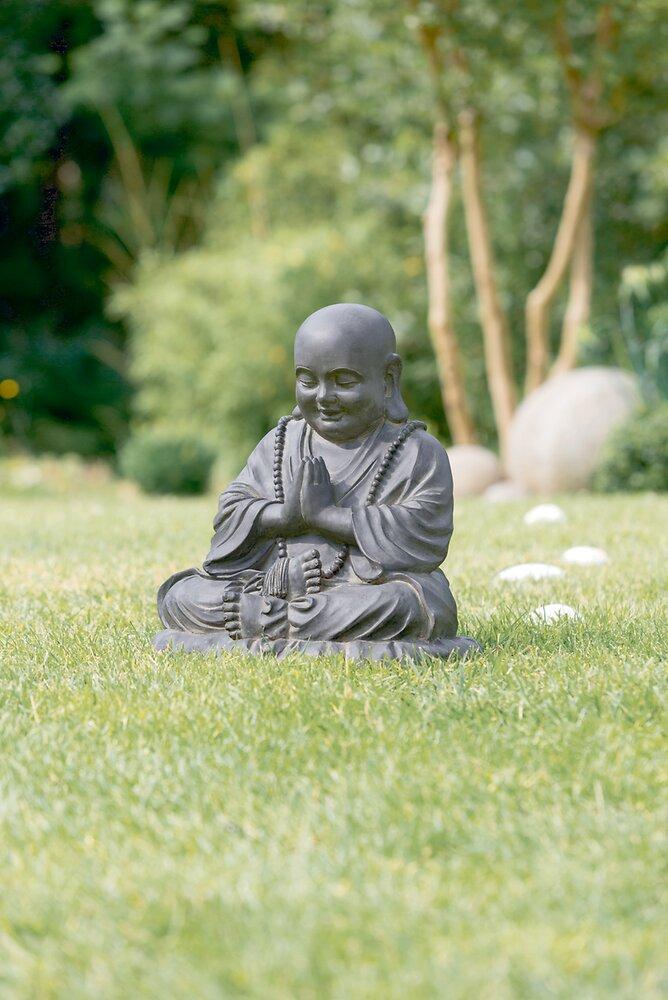 Buddha déco en fiberclay noir 50 x 38 x hauteur 53cm