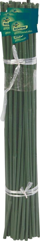 Tuteur bambou plastifié Vert diamètre 12/16mmx1.50m