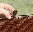 20 pinces de fixation pour brise-vue tissés marron 3.40x2cm