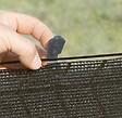 20 pinces de fixation pour brise-vue tissés noir 3.40x2cm