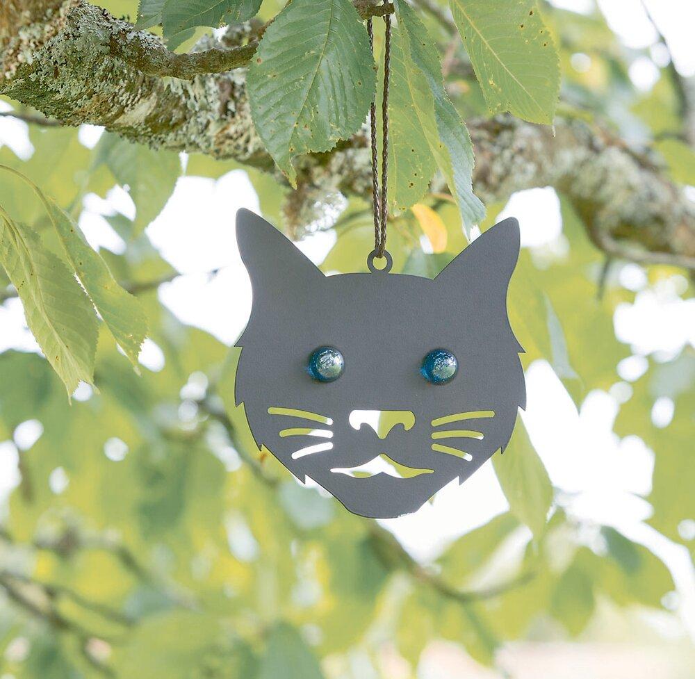 Affolants Têtes de chat à suspendre noir 15cm