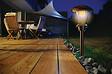 Balise solaire brun foncé-wengé diamètre 15 x hauteur 38cm
