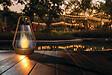 Lanterne solaire or/transparent diamètre 12 x hauteur 19cm