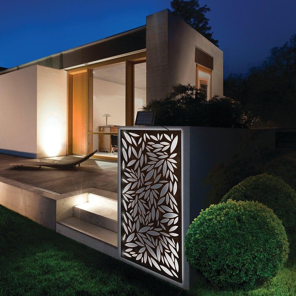 Panneau décoratif solaire métal Marron 0.60x1.20m
