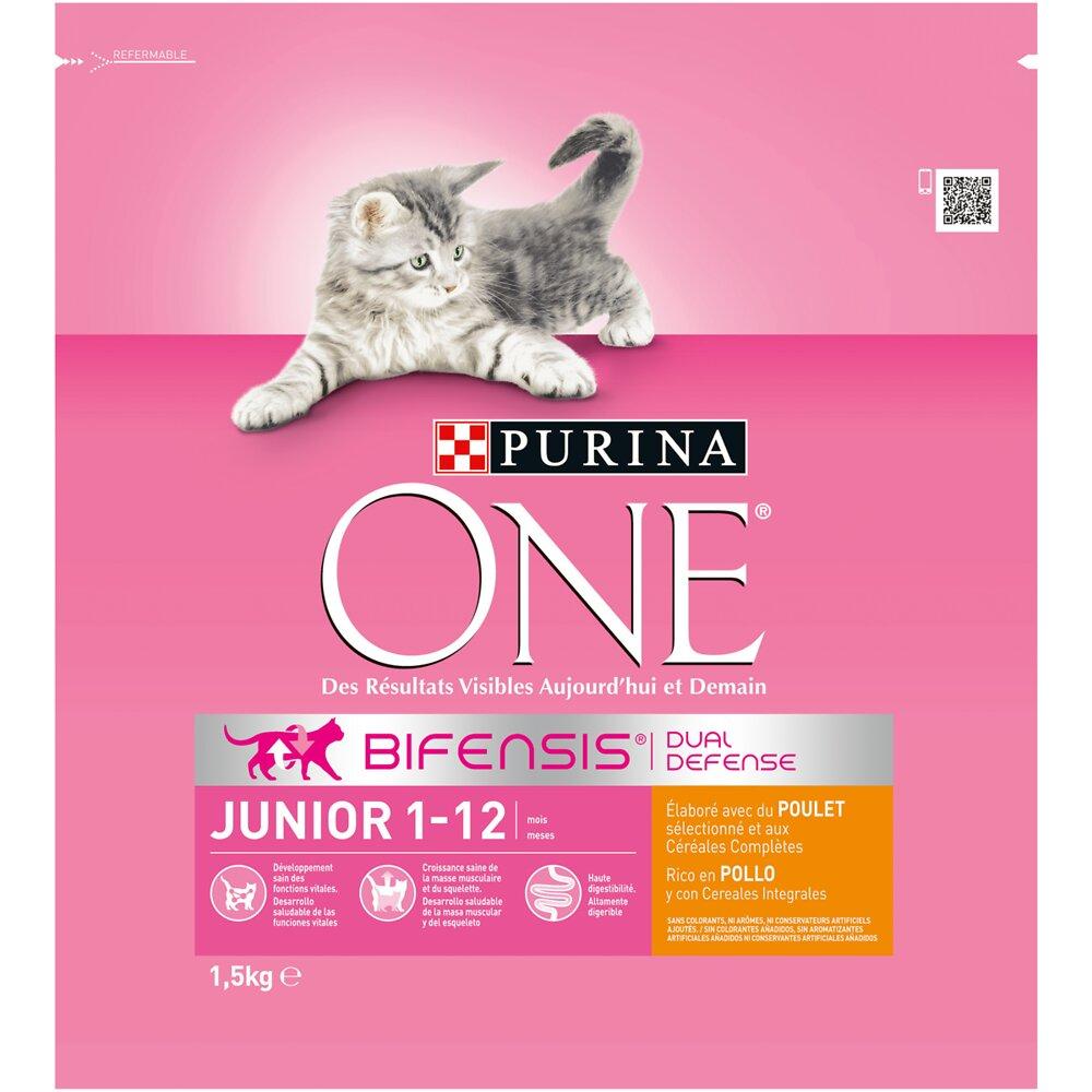Croquettes chat Junior - Poulet et Céréales complètes - 1.5kg