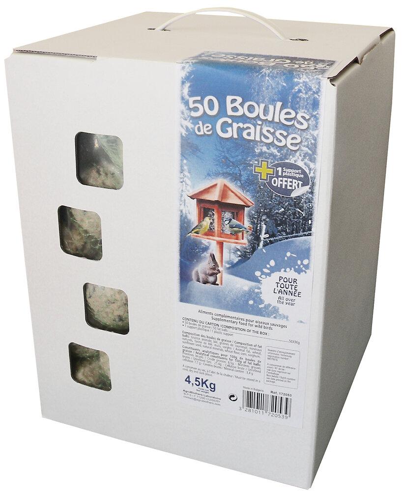 CARTON DE 50 BOULES DE GRAISSE 90 G