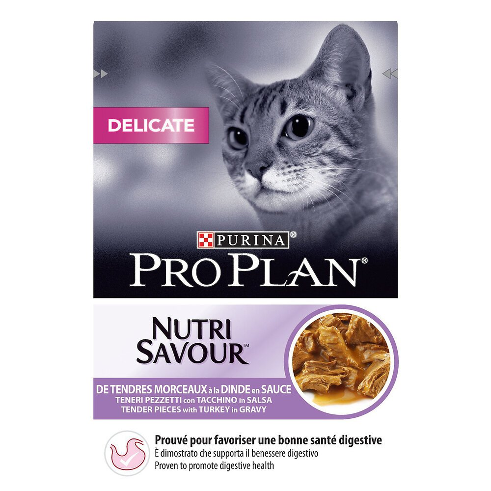 Aliment chat adulte Délicate - Dinde - 85g