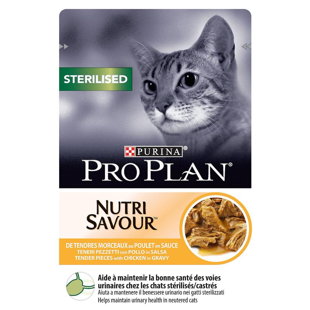 Sachet chat Nutrisavour Sterilised - Poulet - pochon 85g