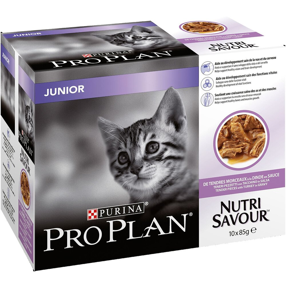 Aliment chaton PURINA Pro Plan Junior dinde 10 x 85 g