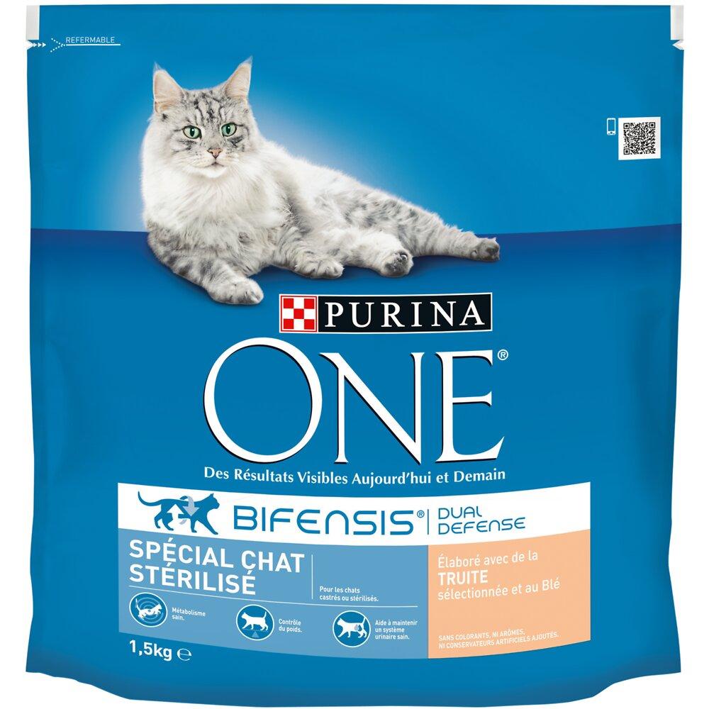 Croquettes chat stérilisé - Truite 1.5kg