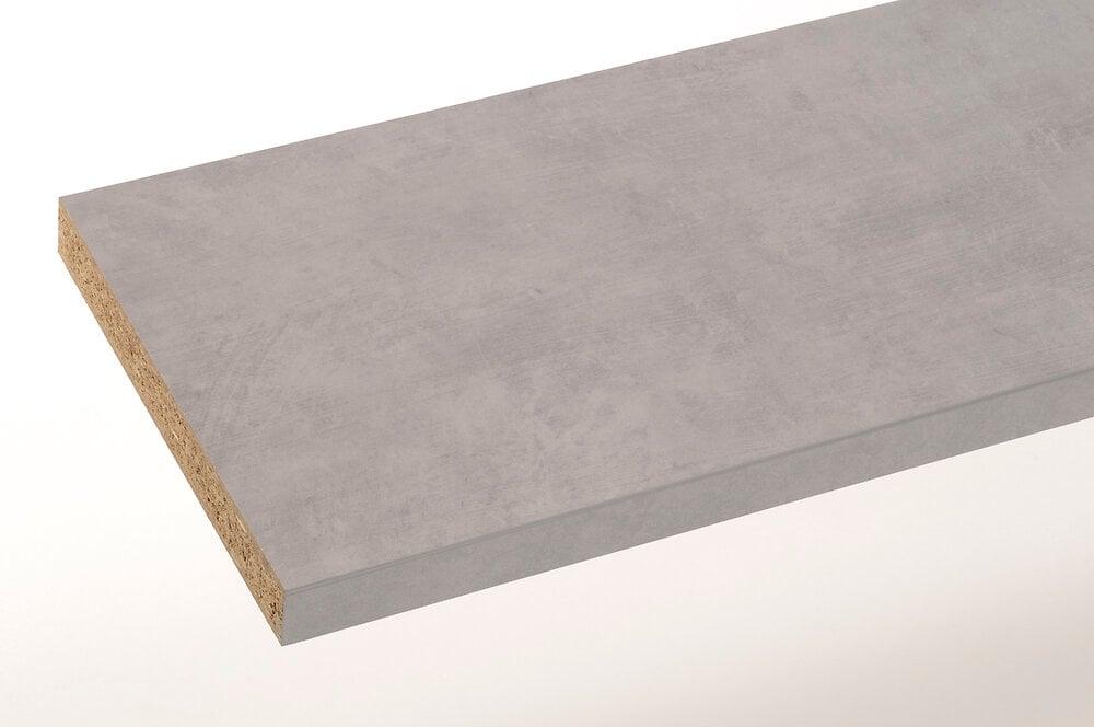 Plan stratifié ciment brossé 200x65cm épaisseur 38mm PEFC75%