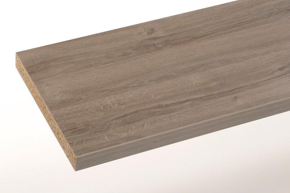Plan stratifié chêne gris 200x65cm épaisseur 38mm PEFC 75%