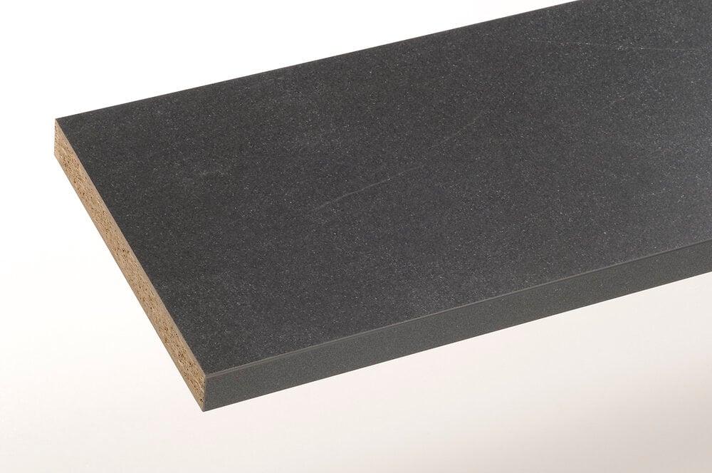 Plan stratifié noir pietra 300x65cm épaisseur 38mm