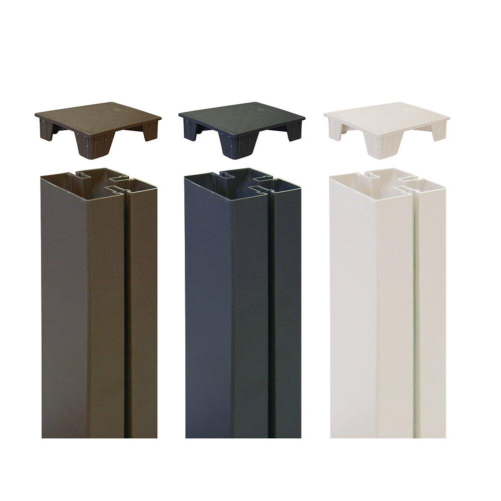 Poteau panneaux décoratifs PP Blanc 1.15m