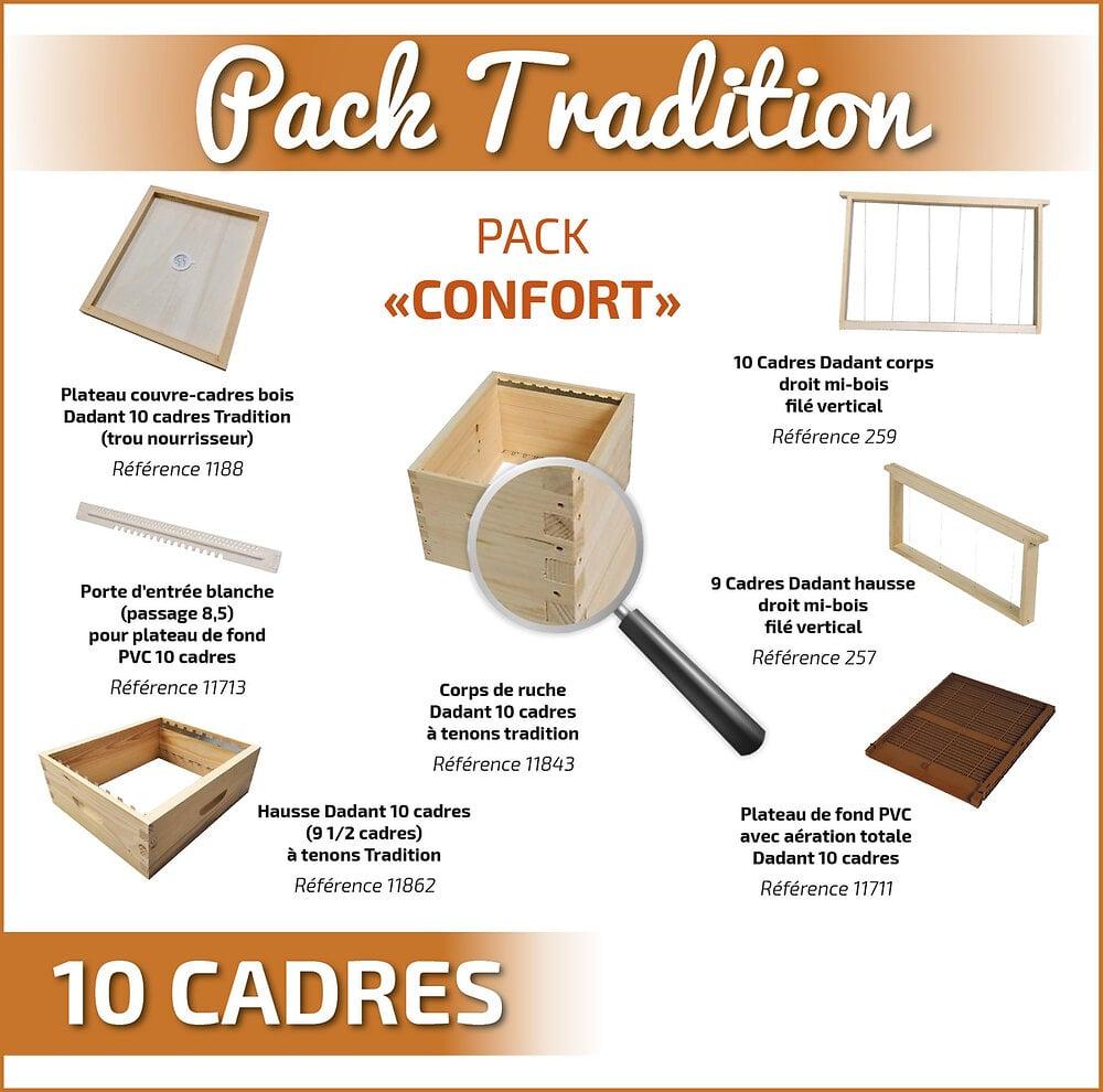 Tradition pack confort dadant 10 sans toit