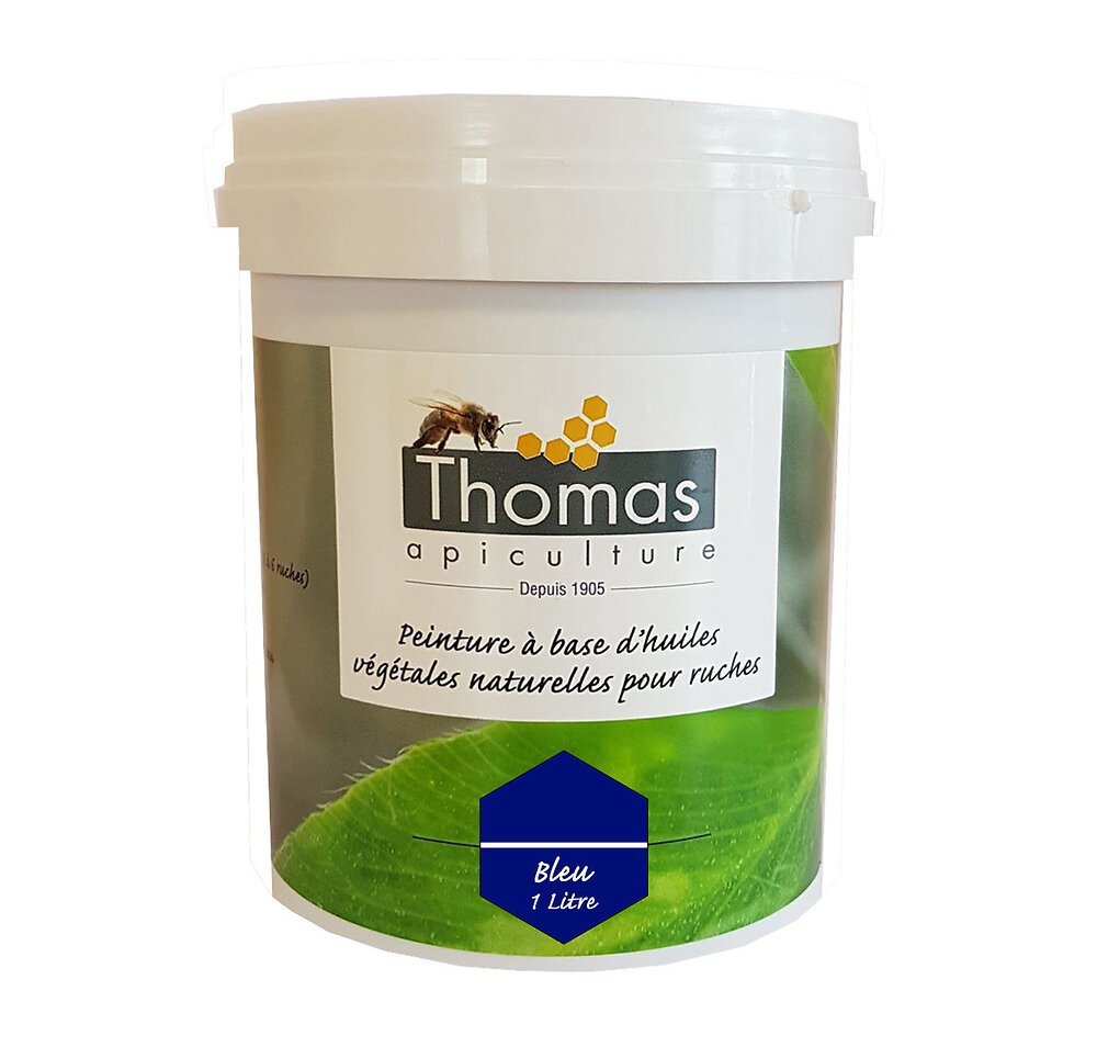 Peinture thomas base végétale 1 litre / bleu