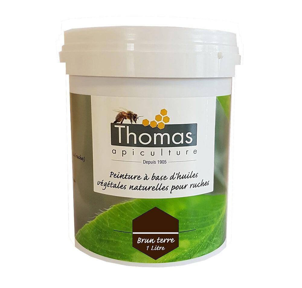 Peinture thomas base végétale 1 litre / brun terre