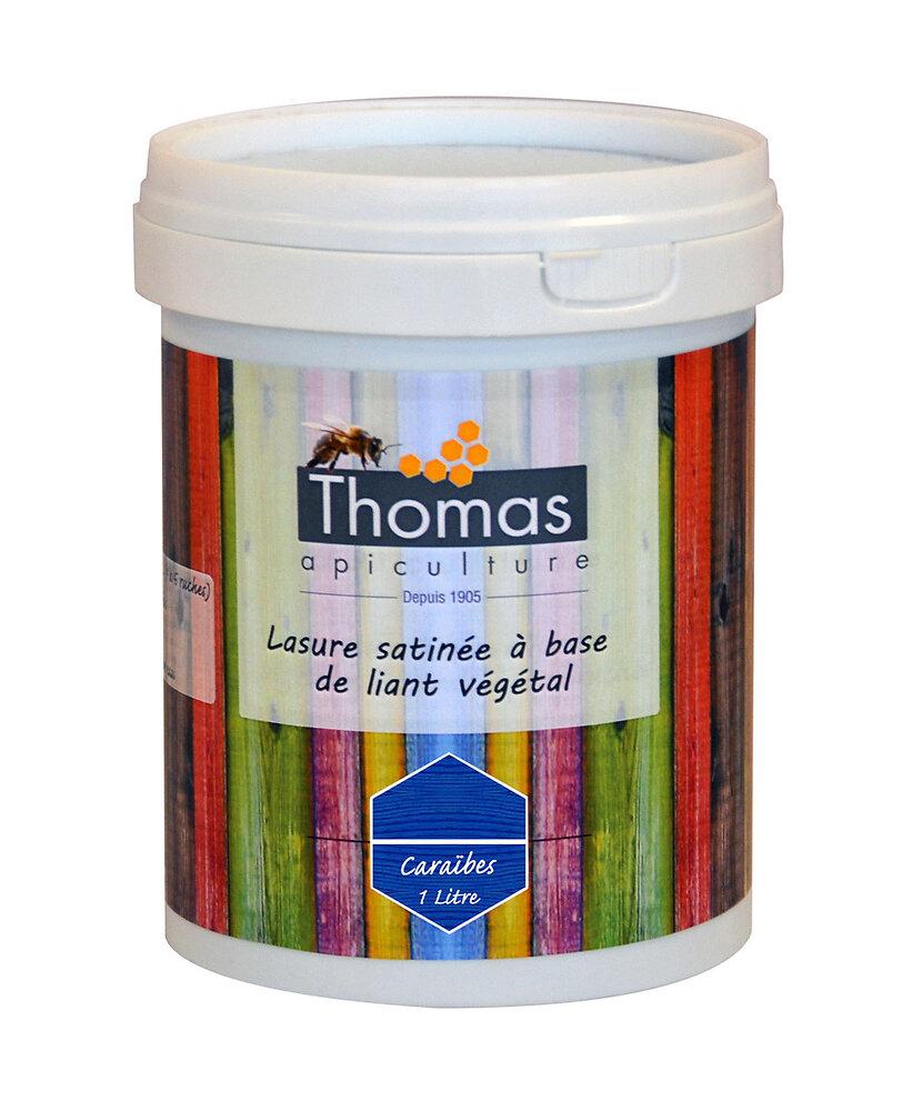 Lasure satinée thomas base végétale / bleu caraïbe