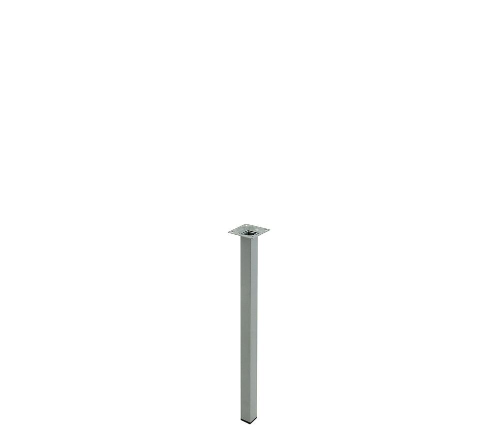 Pied de meuble carré acier gris 2.5x2.5cm hauteur 40cm