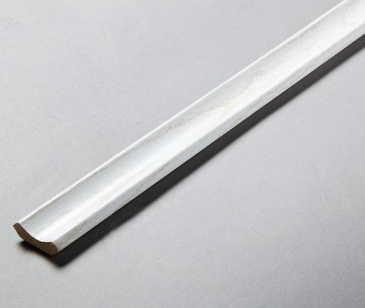 Corniche revêtu 22x22 2.40m blanc/PEFC 70%