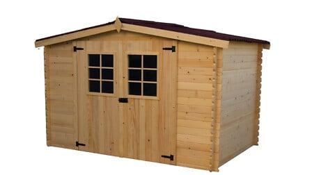 Abri madriers HABRITA bois massif / 20 mm surface extérieure : 9,42 m2