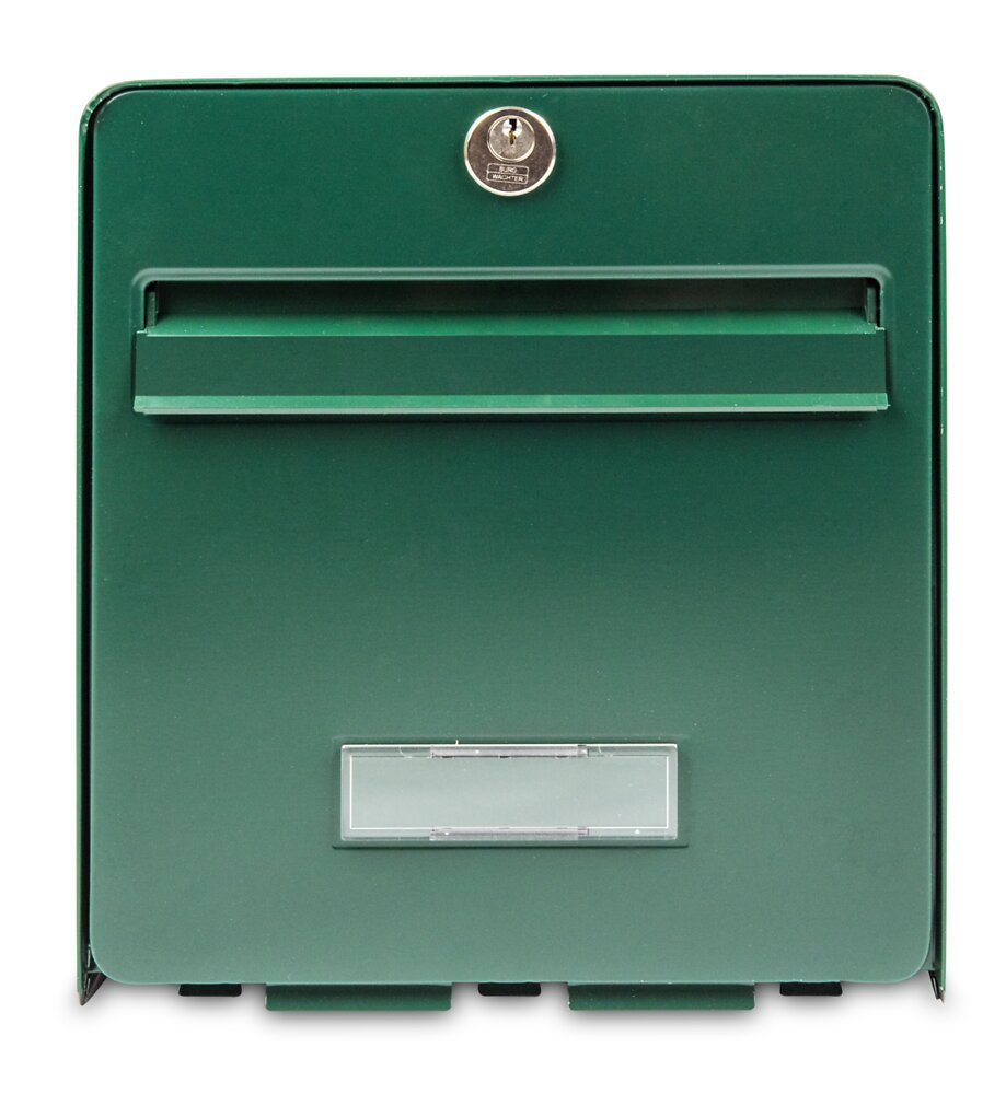 Boîte aux lettres en acier galvanisé vert 1 porte barillet PTT