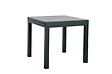 Table de jardin extensible 80/160x80 gris