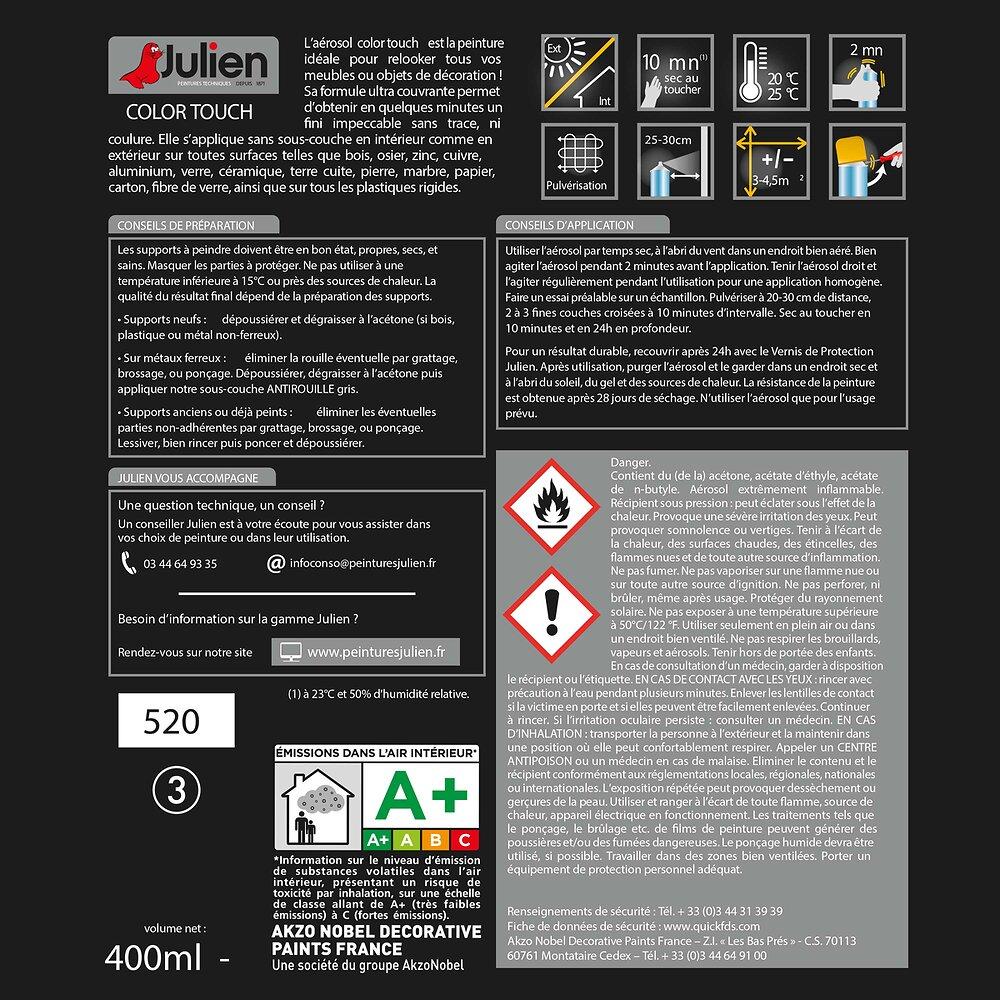 Aérosol COLOR TOUCH Titanium SATIN 400mL
