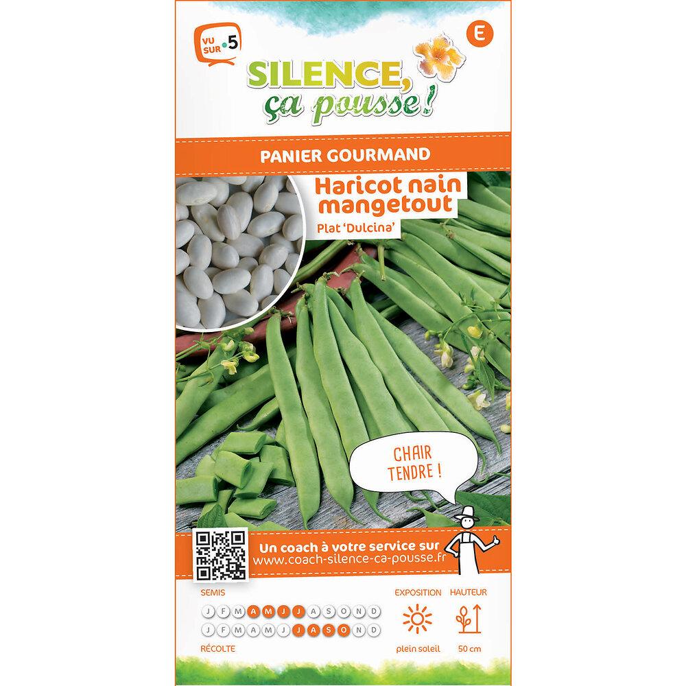 Semences de haricot nain mangetout dulcina/plat 80g
