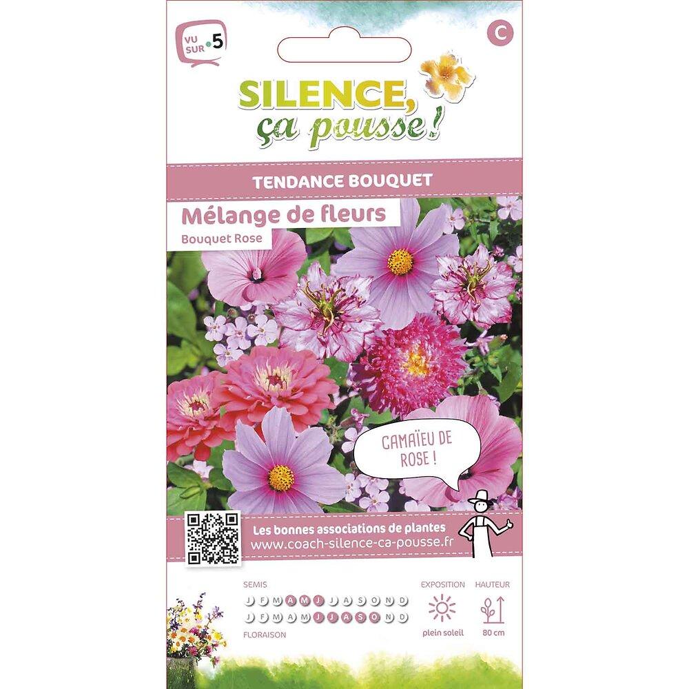 Semences de fleurs pour bouquets roses fleurs en mélange 3g