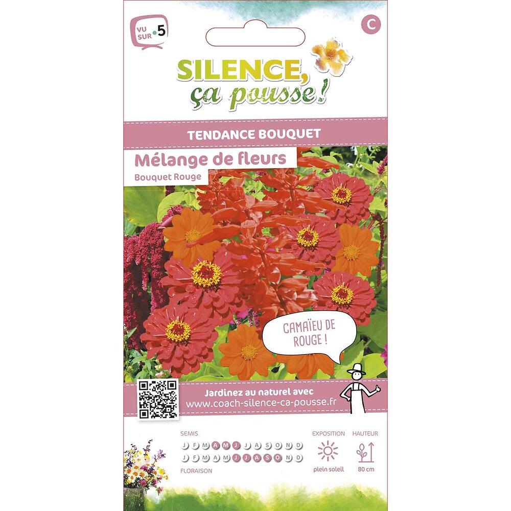 Semences de fleurs pour bouquets rouges fleurs en mélange 3g