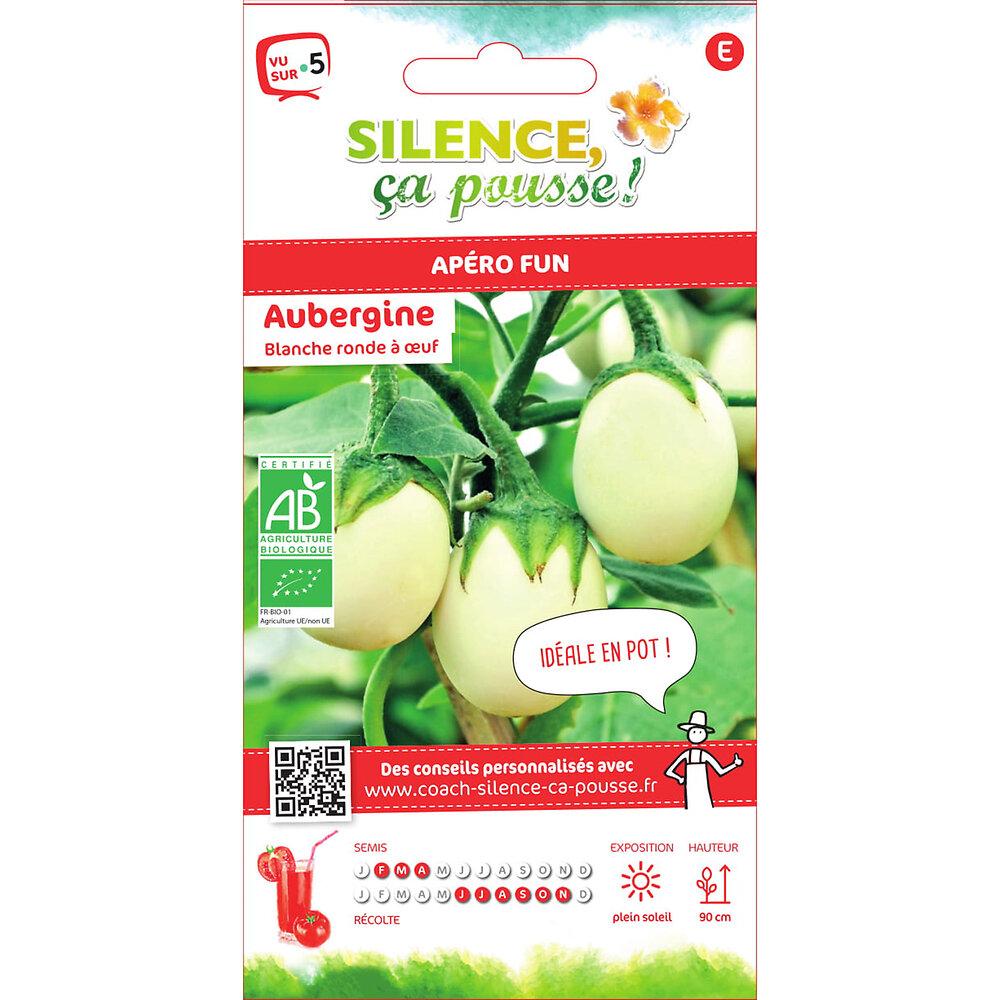 Semences de aubergine blanche ronde à oeuf bio 0.3g bio