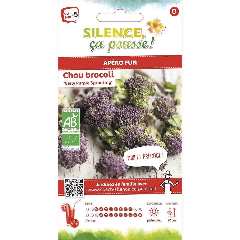 Semences de chou brocoli à jet purple sprouting 1.25g bio