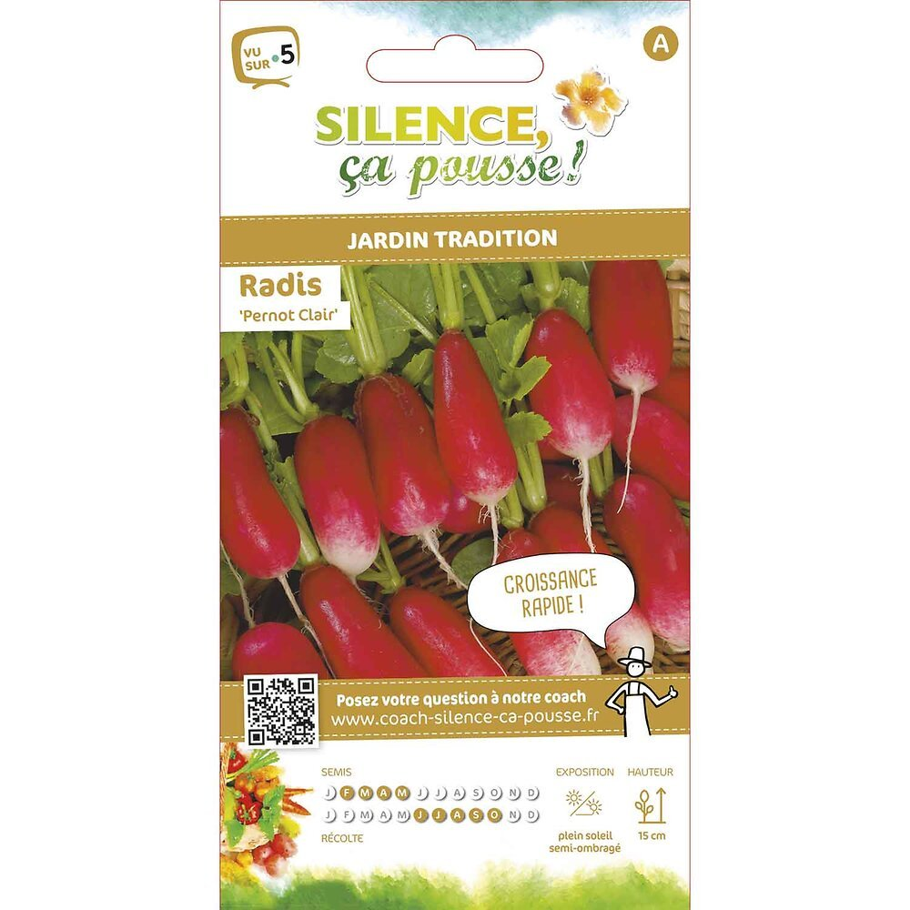Semences de radis demi long pernot clair 8g
