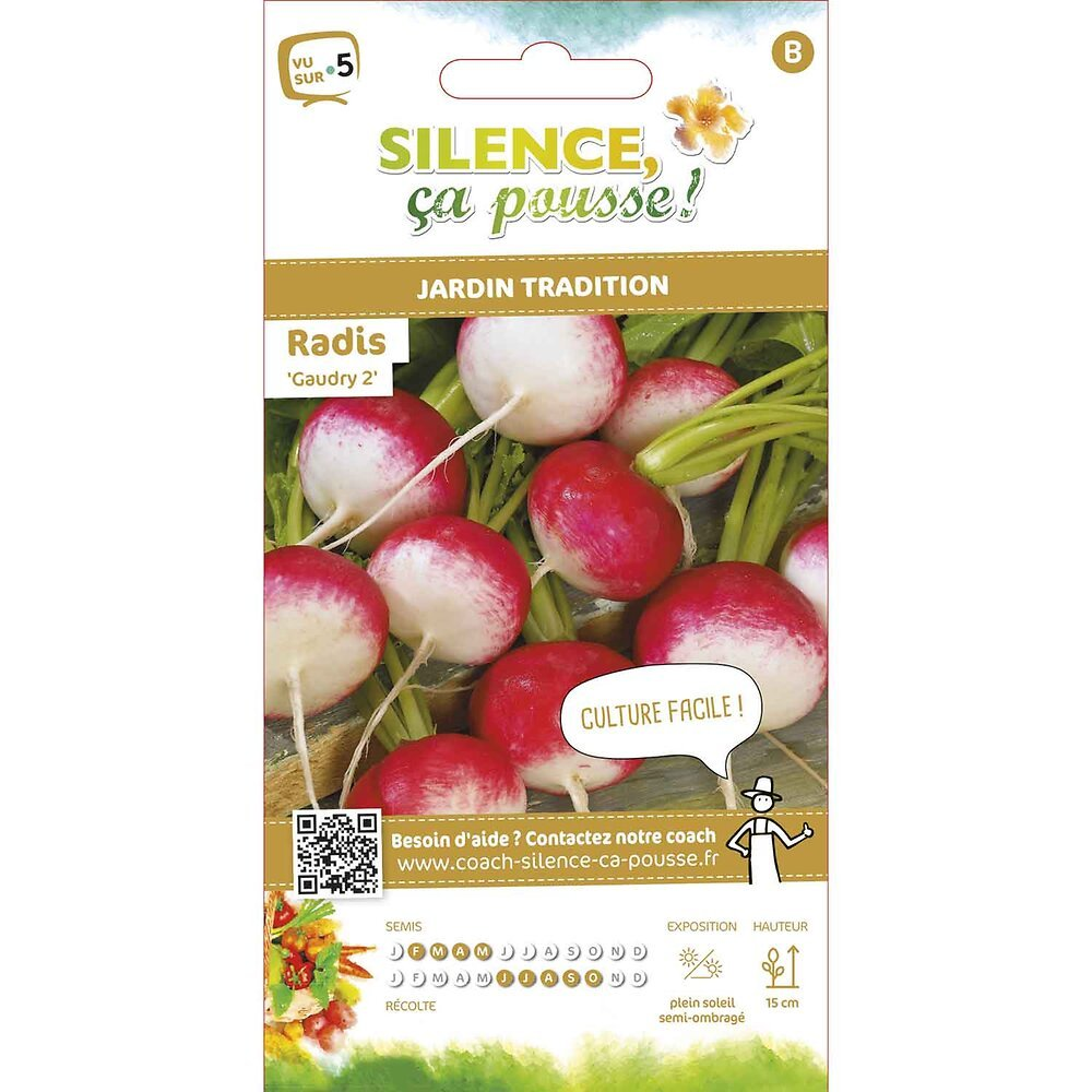 Semences de radis rond gaudry 2 8g