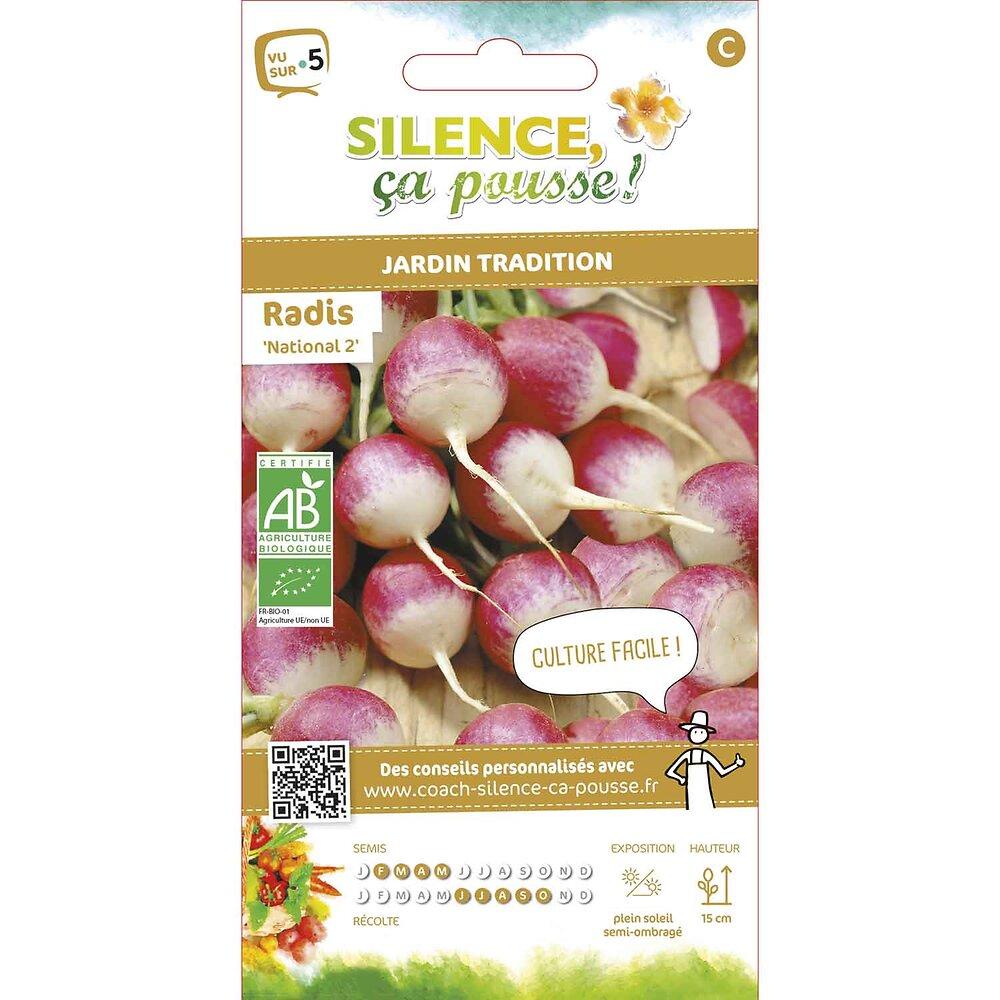Semences de radis rond rose à bout blanc 2/national 2 4g bio