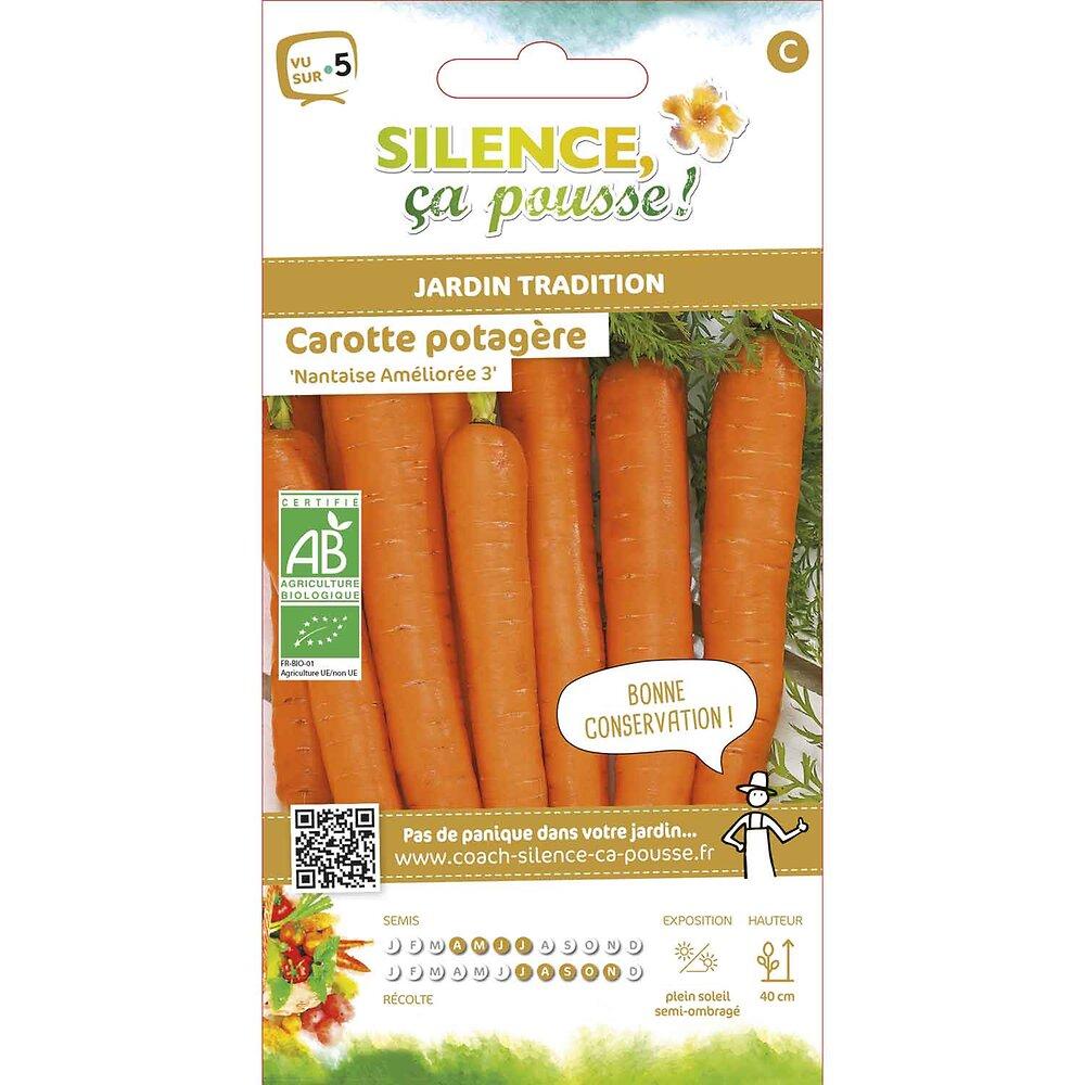 Semences de carotte potagère nantaise ameliorée 2.2g bio
