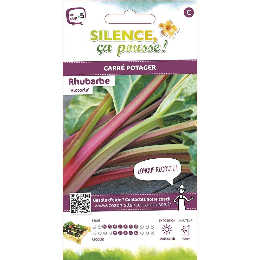 Semences de rhubarbe victoria 1.5g