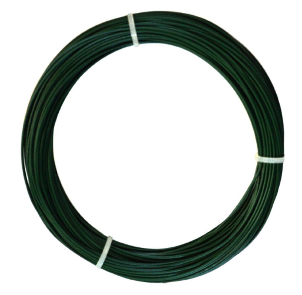 Fil fer plastifié 1.2mm vert 25m