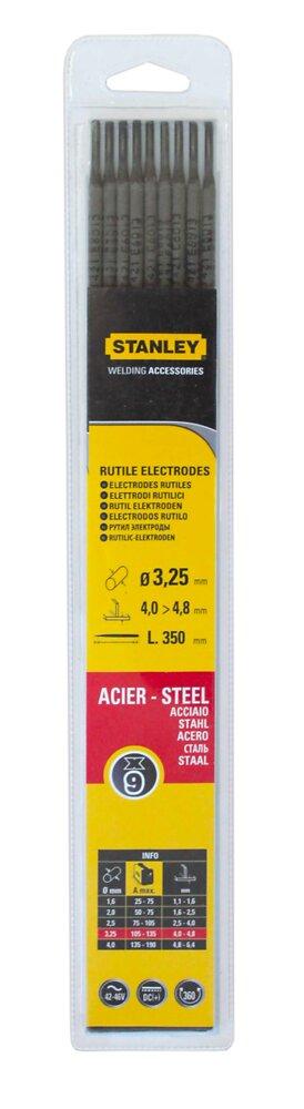 Lot 9 électrodes acier diamètre 3.25mmx350mm