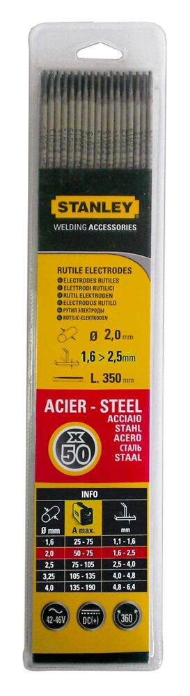 Lot 50 électrodes acier 2mmx350mm