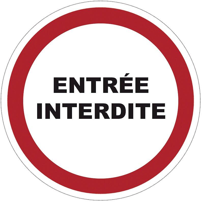 Panneau ENTREE INTERDITE 300x200 mm VISO