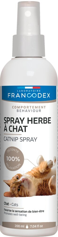 Spray à l'herbe à chat pour chaton et chat 200ml