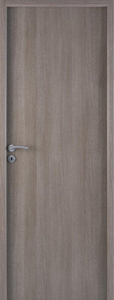 Bloc-Porte PIREE décor bois lisse Chêne Grisé 204x73 H72 Droite