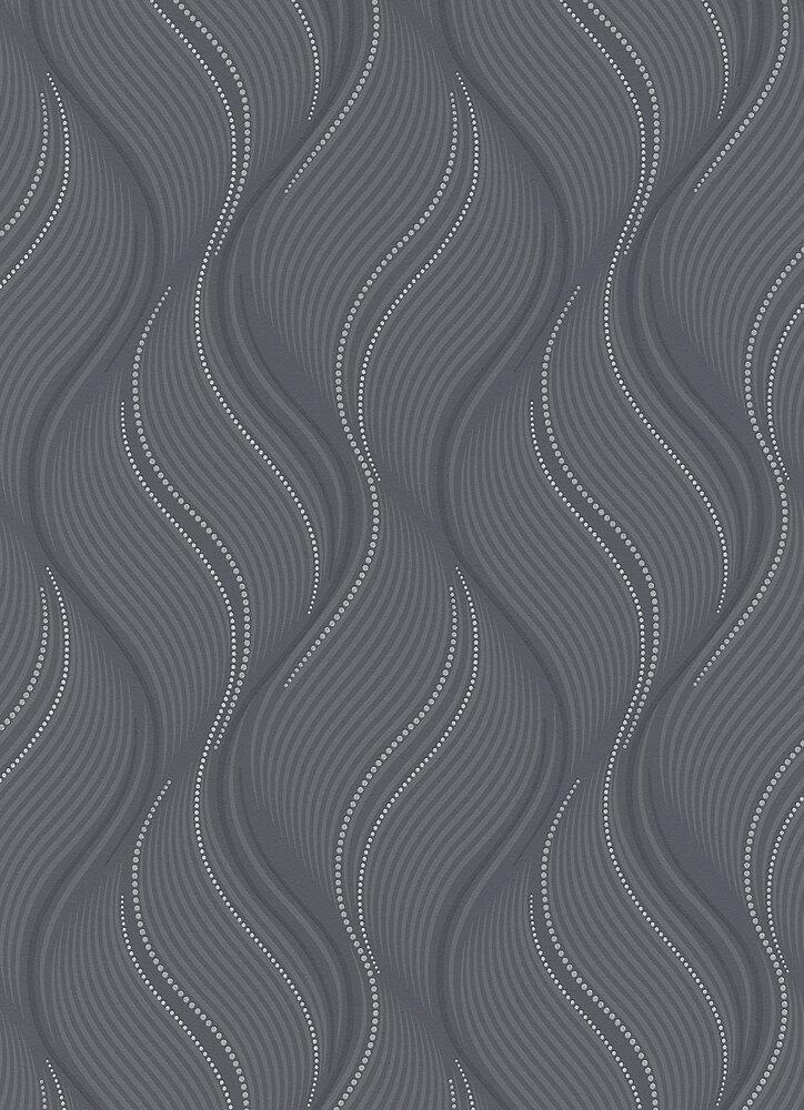 Vinyle expansé sur intissé vagues gris