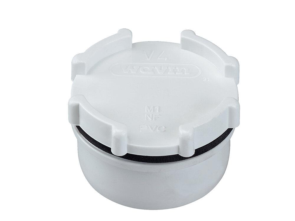 Tampon de visite diamètre 40mm blanc
