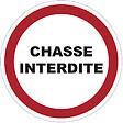 Panneau PVC : CHASSE INTERDITE